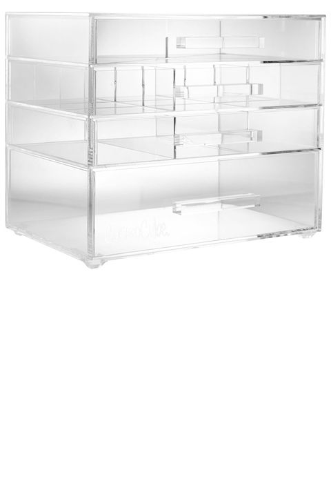"<p>These clear drawers contain various-sized compartments that fit everything from the longest lipstick tubes to the bulkiest foundation bottles so you can ditch those dusty makeup bags for good.</p><p><strong data-redactor-tag=""strong"" data-verified=""redactor"">CosmoCube </strong>Posh, $185, <a href=""https://mycosmocube.com/product/cosmocube-posh/"" target=""_blank"" data-tracking-id=""recirc-text-link"">mycosmocube.com</a>.</p>"