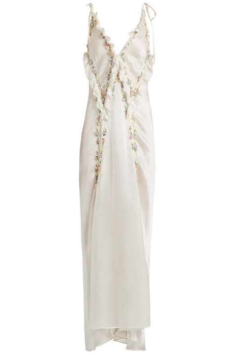 Clothing, Dress, White, Day dress, Cocktail dress, Gown, Beige, Nightgown, Nightwear, Satin,