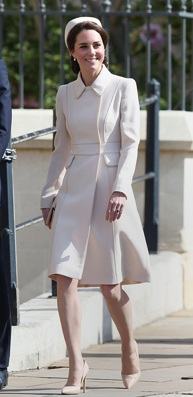 Kate middleton dresses white leather