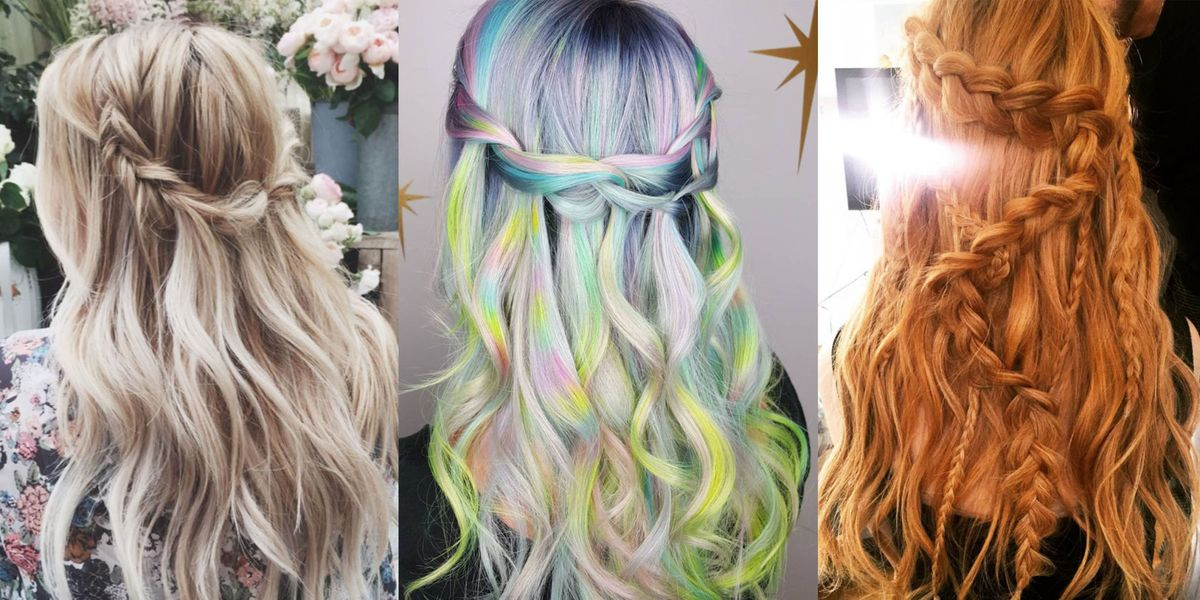 10 Waterfall Braid Hairstyles Waterfall Braided Hair Inspiration