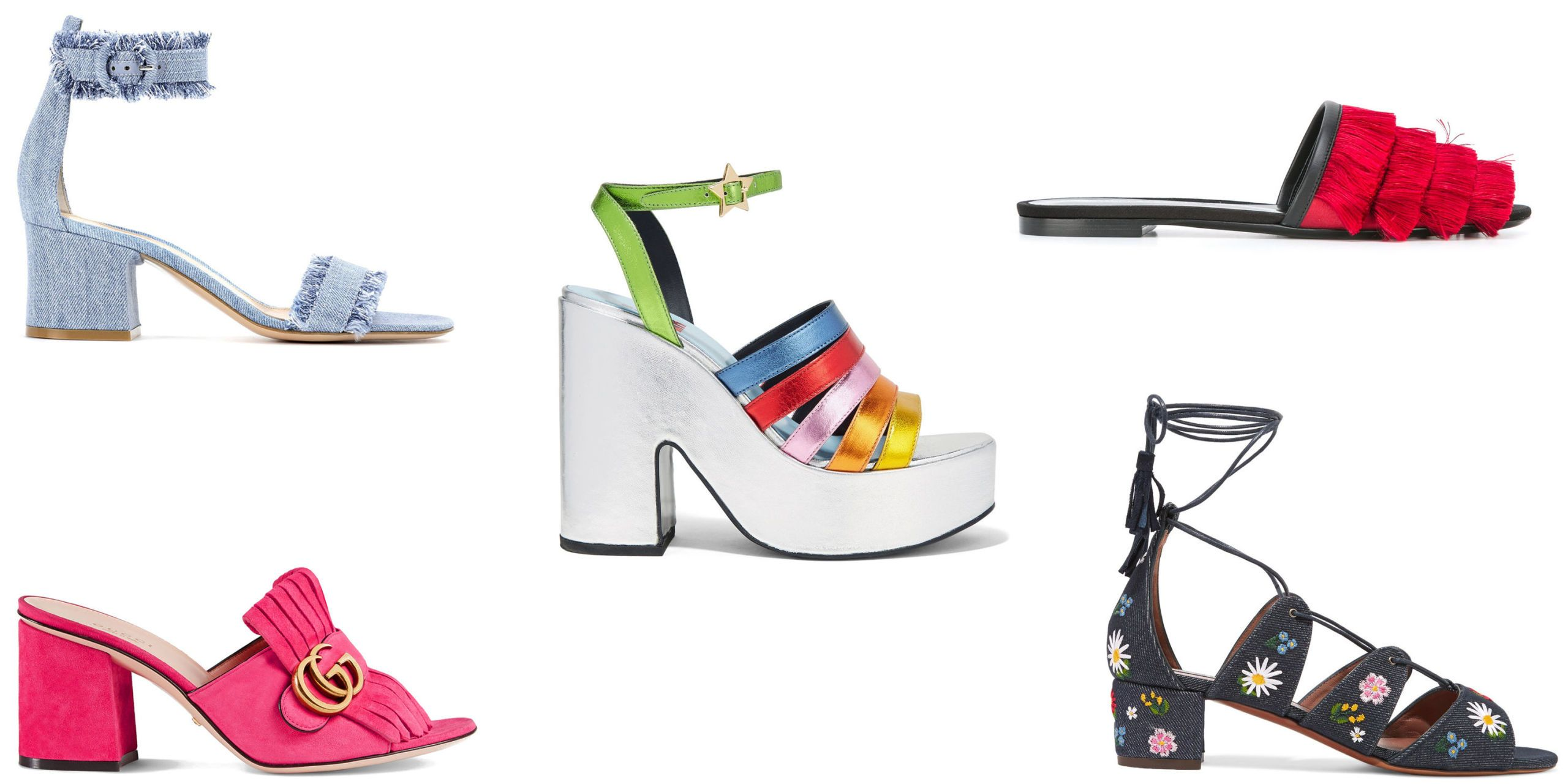 Colorful shoes to brighten up your look.
