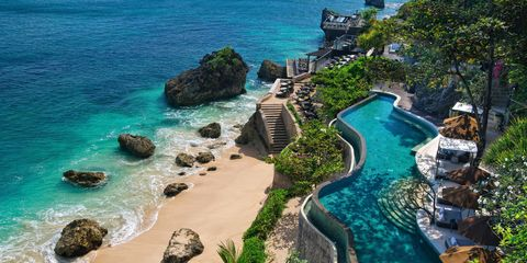Coast, Sea, Natural landscape, Coastal and oceanic landforms, Vacation, Tropics, Ocean, Bay, Promontory, Cove,