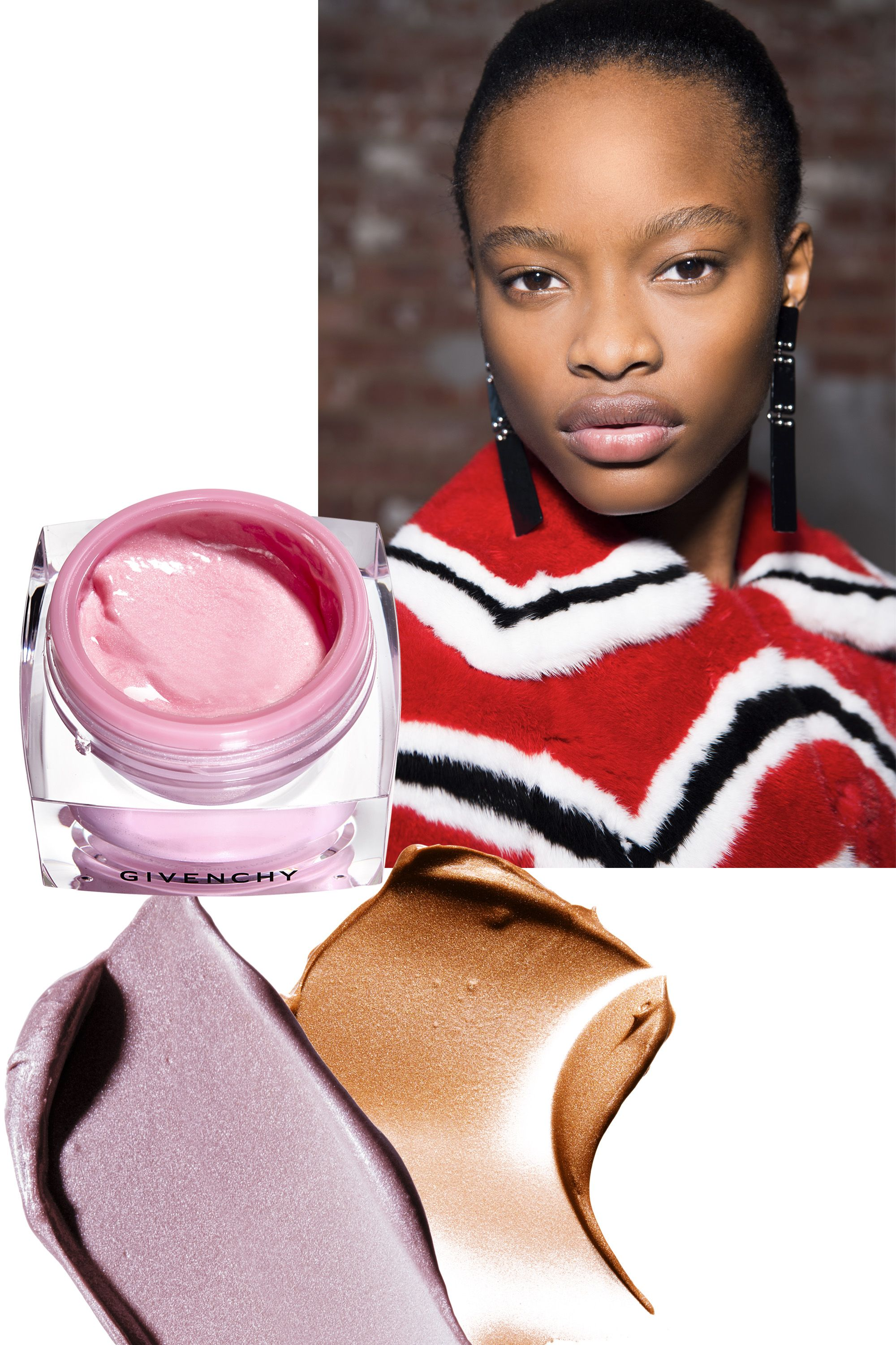 """<p>When choosing a highlighter, keep&nbsp&#x3B;in mind what type of illumination&nbsp&#x3B;you want, says Givenchy Le&nbsp&#x3B;Makeup artistic director Nicolas&nbsp&#x3B;Degennes. """"Powders create a&nbsp&#x3B;matte effect, whereas a gel gives&nbsp&#x3B;you more of a reflection."""" Apply on&nbsp&#x3B;the bridge of your nose, cheekbones,&nbsp&#x3B;and forehead, areas where&nbsp&#x3B;the sun would naturally reflect light.</p><p><em data-redactor-tag=""""em"""" data-verified=""""redactor"""">From left:</em>&nbsp&#x3B;<a href=""""http://www.neimanmarcus.com/Givenchy-Limited-Edition-M-233moire-de-Forme-Highlighter/prod197680011/p.prod"""" target=""""_blank"""" data-tracking-id=""""recirc-text-link"""">Givenchy Mémoire de Forme Highlighter</a> ($45)&#x3B; <a href=""""https://www.maybelline.com/face-makeup/contouring/facestudio-master-strobing-liquid-illuminating-highlighter/medium-nude-glow"""" target=""""_blank"""" data-tracking-id=""""recirc-text-link"""">Maybelline New York FaceStudio Master Strobing Liquid Illuminating Highlighter</a> in Medium/Nude Glow and Light/Iridescent ($10 each).</p>"""