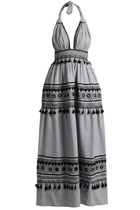 Clothing, Dress, Day dress, White, Black, Cocktail dress, Pattern, Pattern, Neck, Black-and-white,
