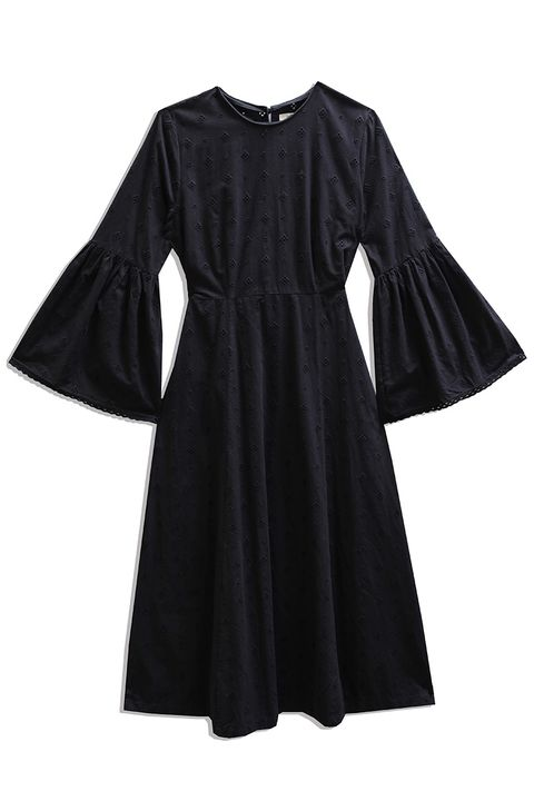Clothing, Black, Sleeve, Dress, Day dress, Outerwear, Little black dress, Cocktail dress, A-line, Robe,