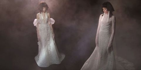 Gown, Dress, Clothing, Wedding dress, Fashion, Bridal clothing, Bride, Formal wear, Bridal accessory, Outerwear,