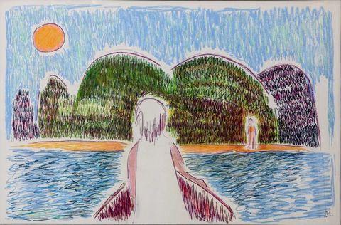 Art, Painting, Illustration, Paint, Artwork, Drawing, Art paint, Water feature, Visual arts,