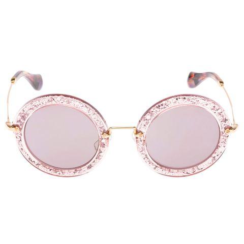 bf60f792a Miu Miu Glitter Sunglasses - Sunglasses