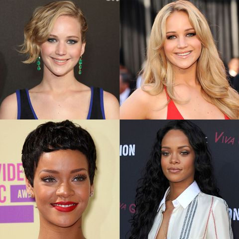 Celebrity Long and Short Haircuts - Celebrity Short and Long Hairstyles