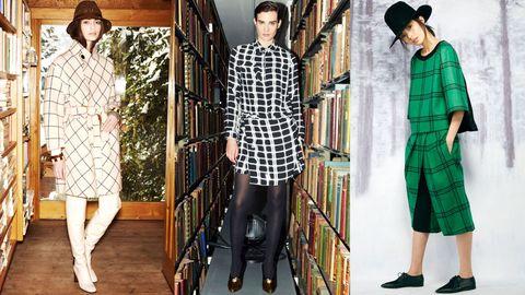 Leg, Sleeve, Pattern, Collar, Textile, Hat, Style, Dress shirt, Plaid, Street fashion,