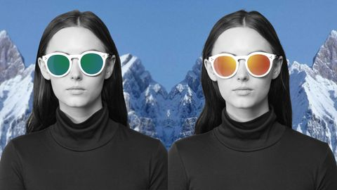 Eyewear, Vision care, Goggles, Winter, Cool, Sunglasses, Eye glass accessory, Personal protective equipment, Black hair, Snow,