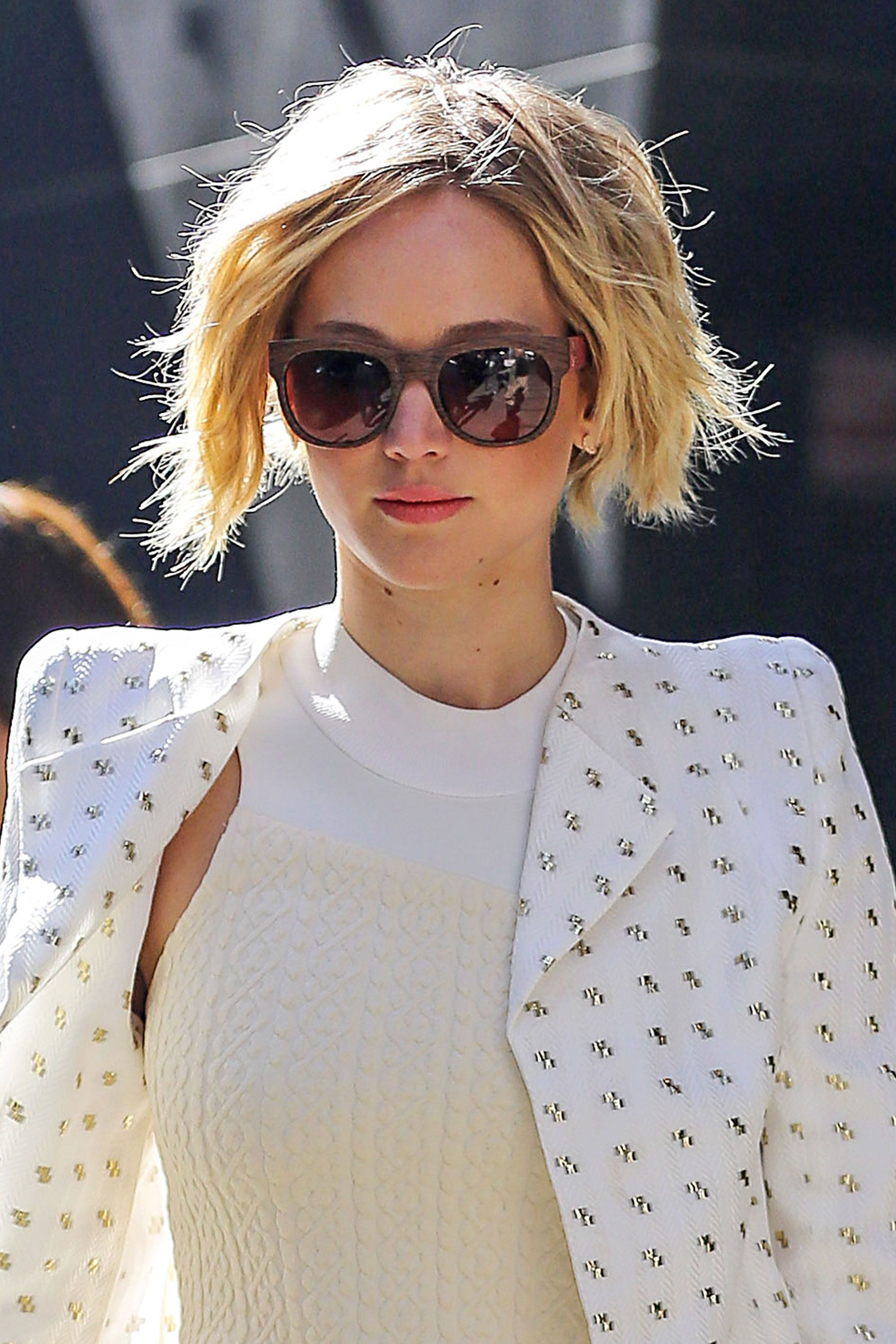 Jennifer Lawrence's Chic Grown-Out Pixie