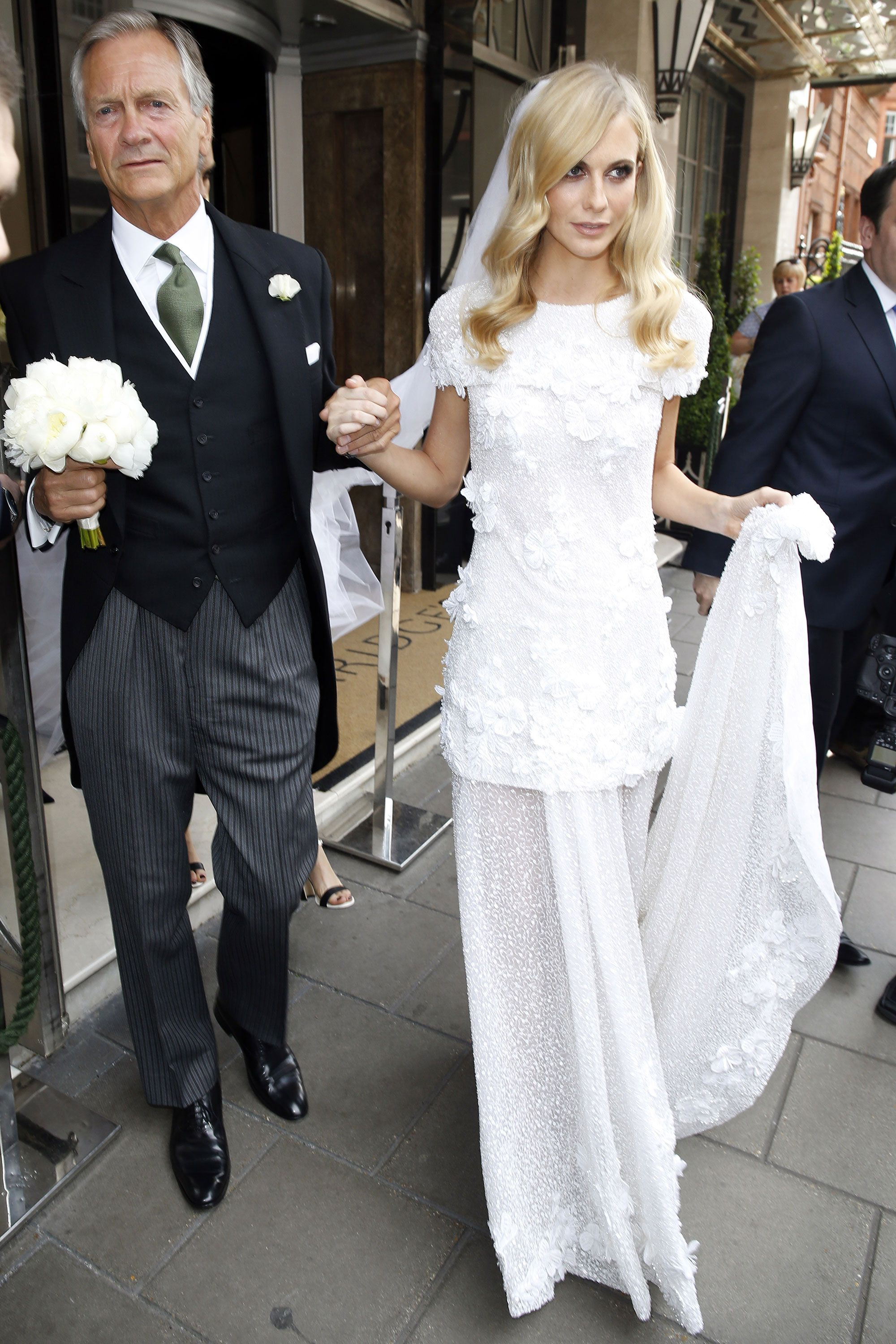 See Poppy Delevingne's Haute Couture Chanel Bridal Gown