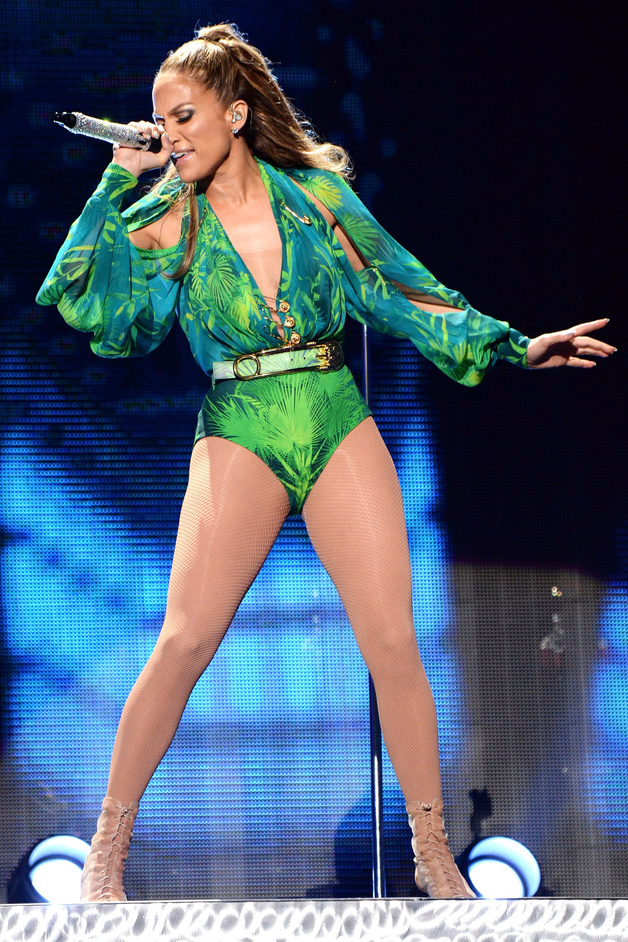 J.Lo Revives Her Iconic Versace Look Onstage