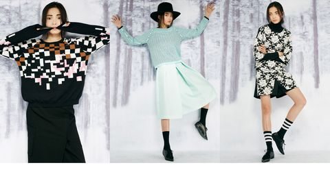 Sleeve, Winter, Hat, Entertainment, Style, Pattern, Fashion, Costume accessory, Waist, Street fashion,