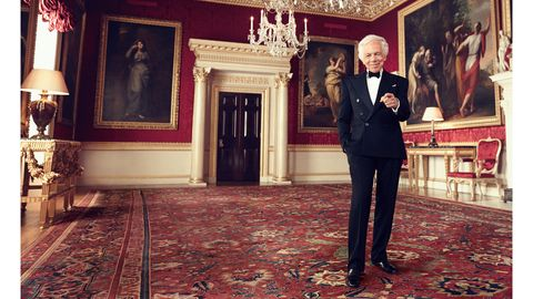 6807fc2a1 An American In London. Ralph Lauren dons his tuxedo for a gala dinner with Prince  William at Windsor Castle ...