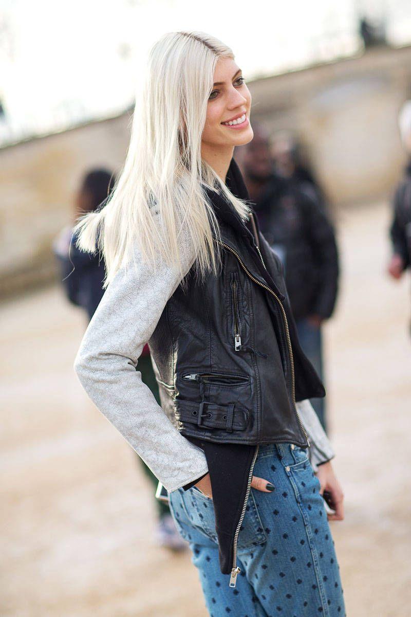 devon windsor model interview - devon windsor bleach blonde hair care