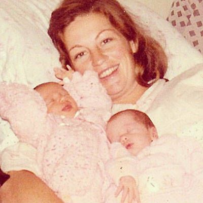 Gisele Bundchen and Twin Sister Patricia - Baby Photo of