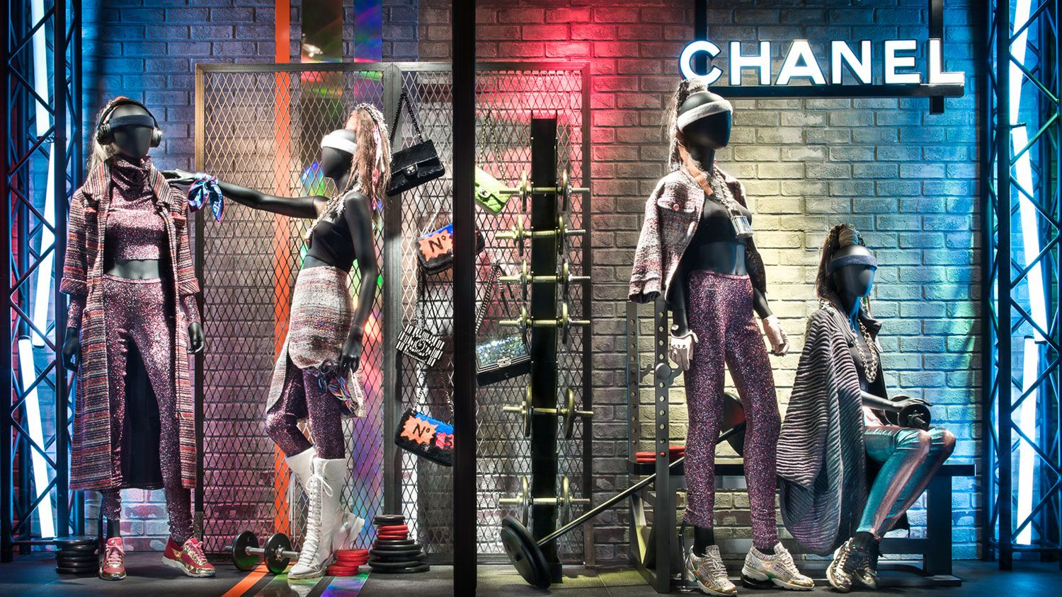 Bergdorf Goodman Brings The Chanel Gym To Life
