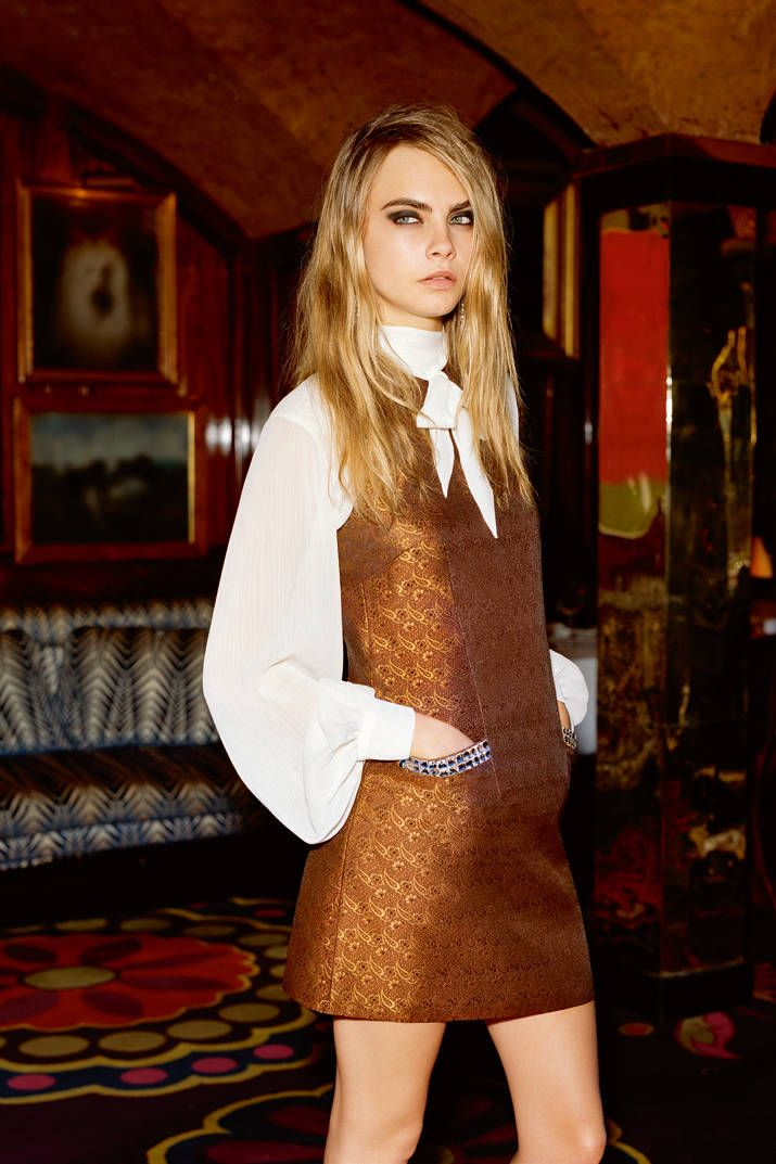 Cara Delevingne Stars in Topshop's Holiday Campaign