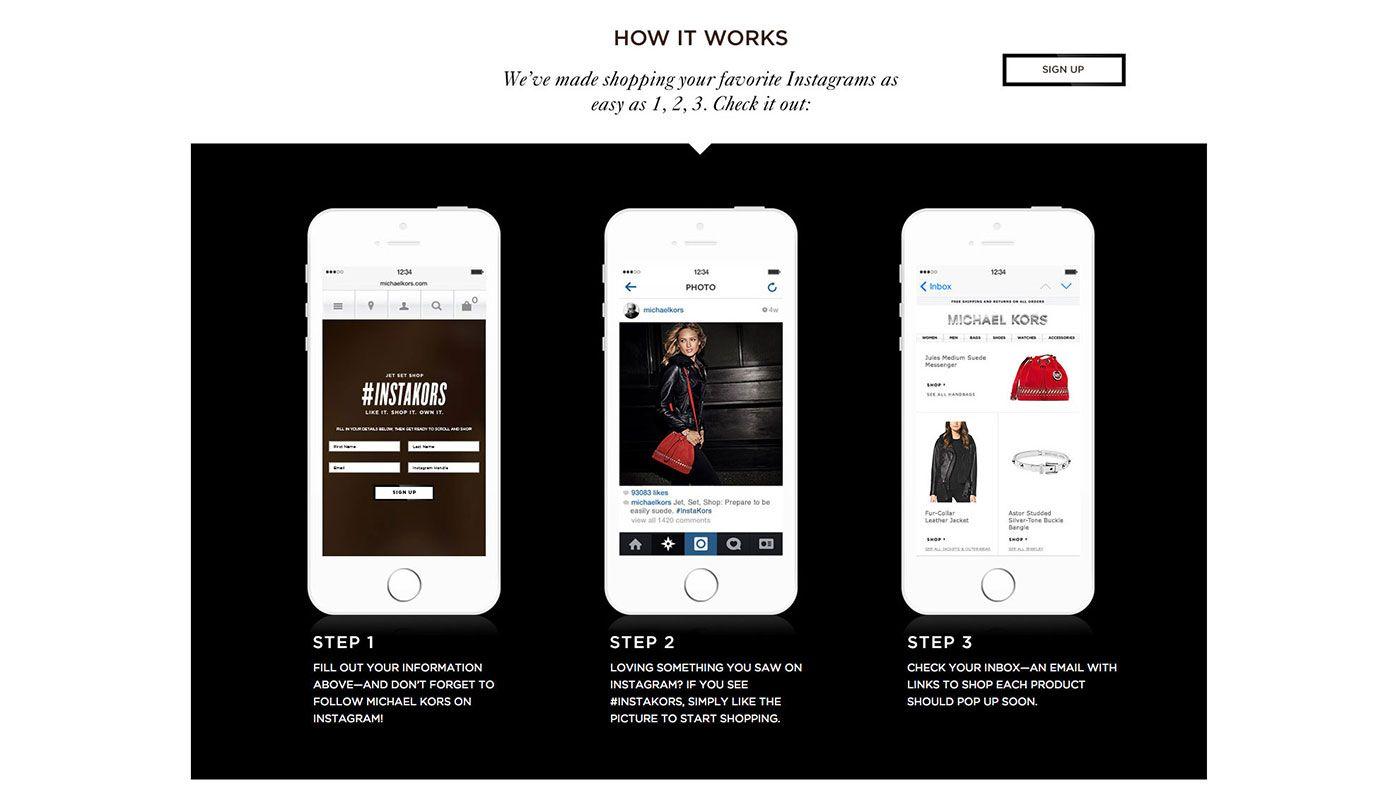 Michael Kors Debuts Shoppable Instagram