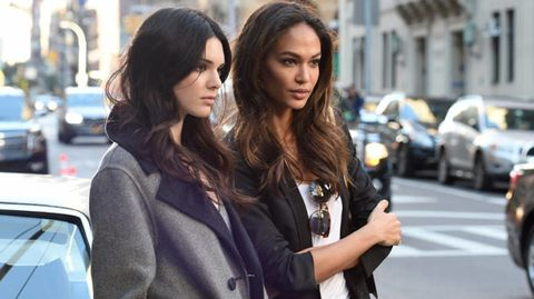 Joan Smalls Interviews Kendall Jenner For Estee Lauder