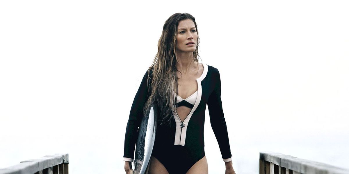 Gisele Surfs in the New Chanel No.5 Film