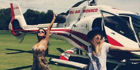 Cara Delevingne Celebrates Selena Gomez's Birthday in Style