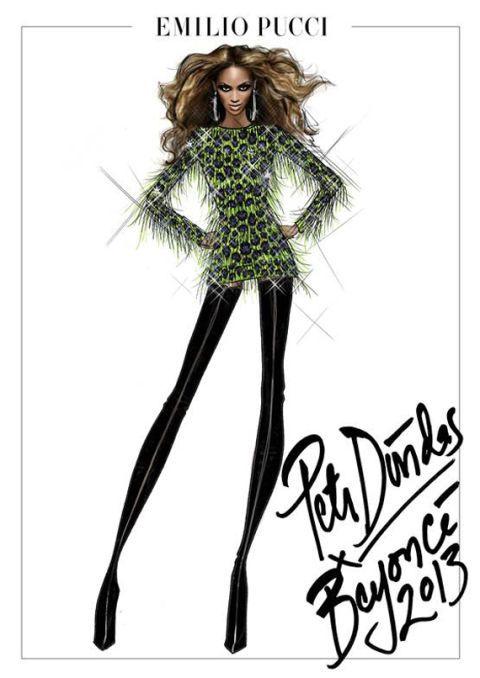 """separation shoes 6066c ef10c Emilio Pucci Sketches for Beyoncé's """"Mrs ..."""