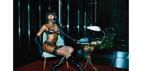 Naomi Campbell Goes Film Noir for for Agent Provocateur