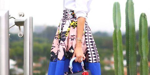 Clothing, Leg, Sleeve, Shoulder, Human leg, White, Style, Street fashion, Bag, Fashion accessory,