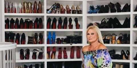Style, Fashion accessory, Street fashion, Fashion, Shelf, Knee, Bag, Collection, Sandal, Retail,