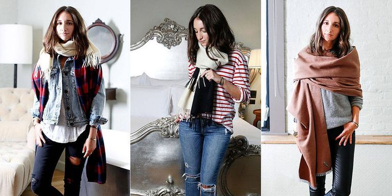 3 Fresh Ways to Tie a Scarf