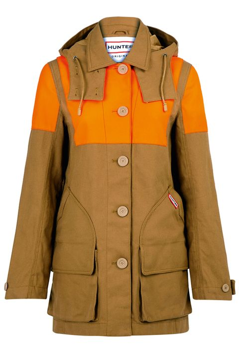 Product, Brown, Collar, Sleeve, Outerwear, Uniform, Coat, Orange, Personal protective equipment, Khaki,