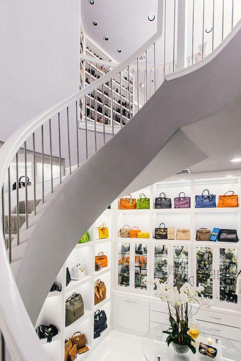 Interior design, Architecture, White, Stairs, Wall, Ceiling, Interior design, Handrail, Grey, Home,