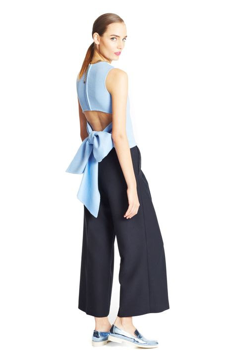 Clothing, Sleeve, Shoulder, Standing, Joint, Formal wear, Style, Waist, Electric blue, Fashion,