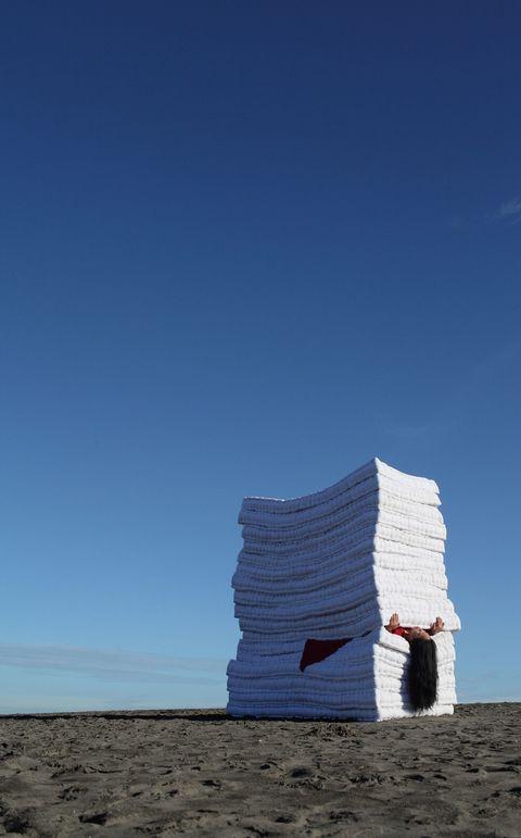 Blue, Sky, Landscape, Horizon, Ecoregion, Azure, Formation, Sand, Aeolian landform, Tundra,