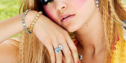 Finger, Lip, Hairstyle, Skin, Eyelash, Jewellery, Style, Nail, Earrings, Fashion accessory,