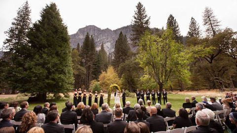 Nature, People, Tree, Formal wear, Ceremony, Crowd, Biome, Evergreen, Mountain range, Hill station,