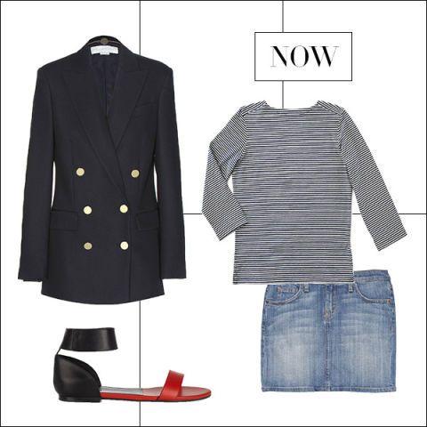 Sleeve, Collar, Textile, Pattern, Denim, Coat, Blazer, Fashion, Electric blue, Button,