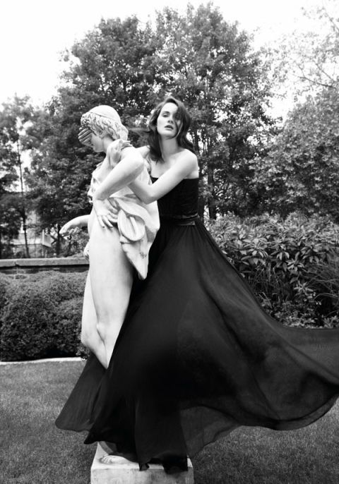 Photograph, Dress, Style, Formal wear, Gown, Monochrome photography, Bridal party dress, Monochrome, One-piece garment, Photography,