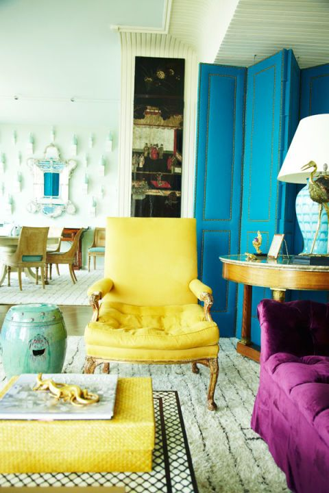 Blue, Room, Interior design, Yellow, Green, Furniture, Teal, Turquoise, Interior design, Floor,