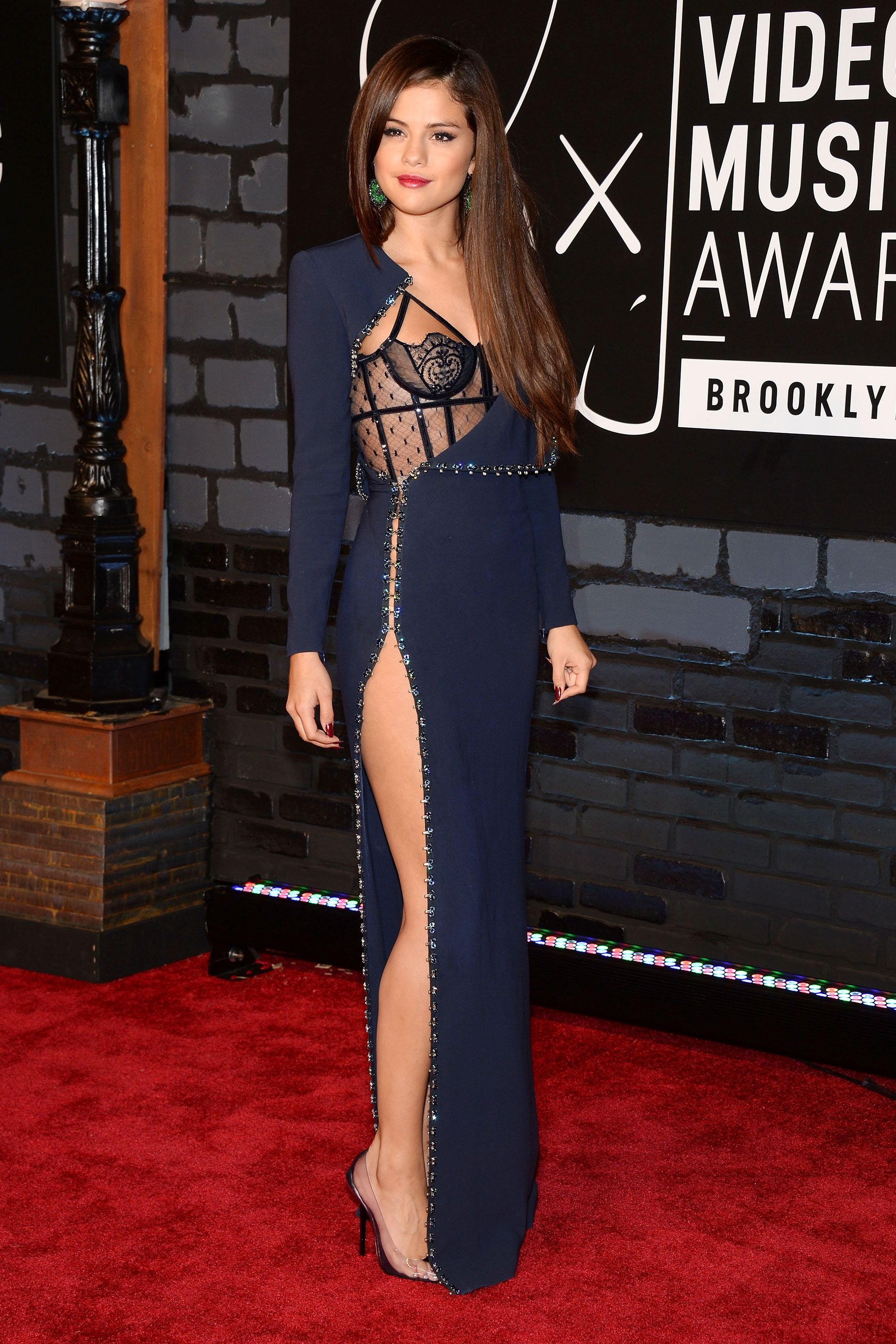 Celebrity Red Carpet Poses with High Slit