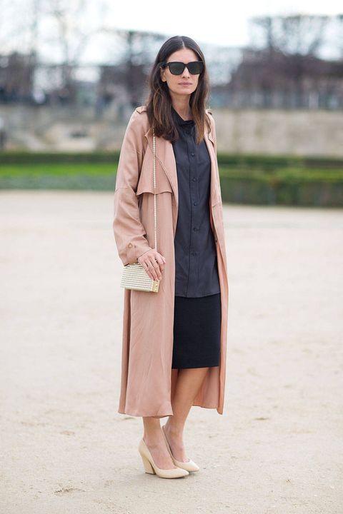 Leila Yavari showcases this season's unstructured look in Paris.