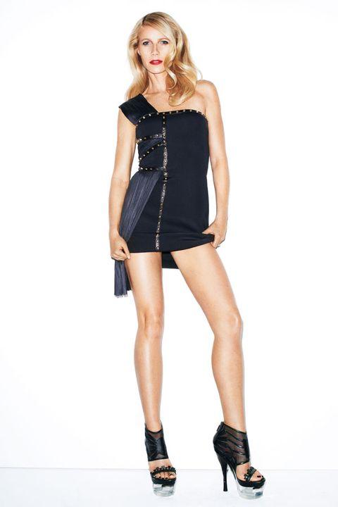 Clothing, Sleeve, Shoulder, Human leg, Joint, Dress, Waist, High heels, Style, Knee,