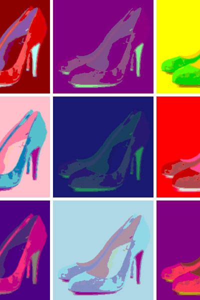 Carmine, High heels, Cleat, Painting, Illustration, Sandal, Outdoor shoe, Drawing, Synthetic rubber, Dancing shoe,