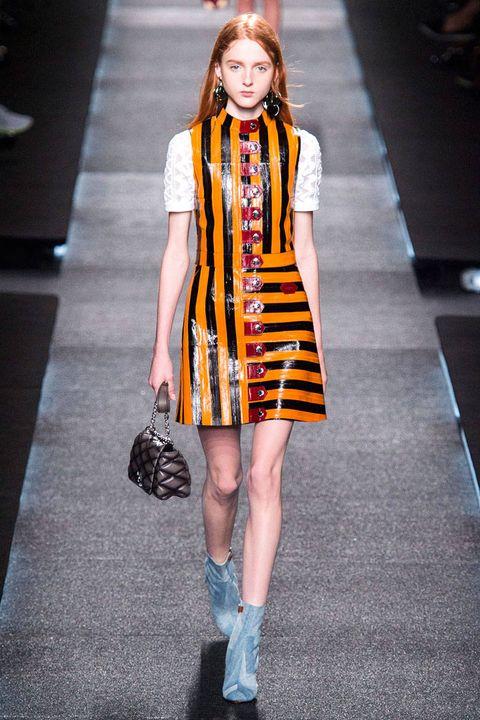 Clothing, Shoulder, Human leg, Joint, Fashion show, Dress, Fashion model, Style, Street fashion, Pattern,