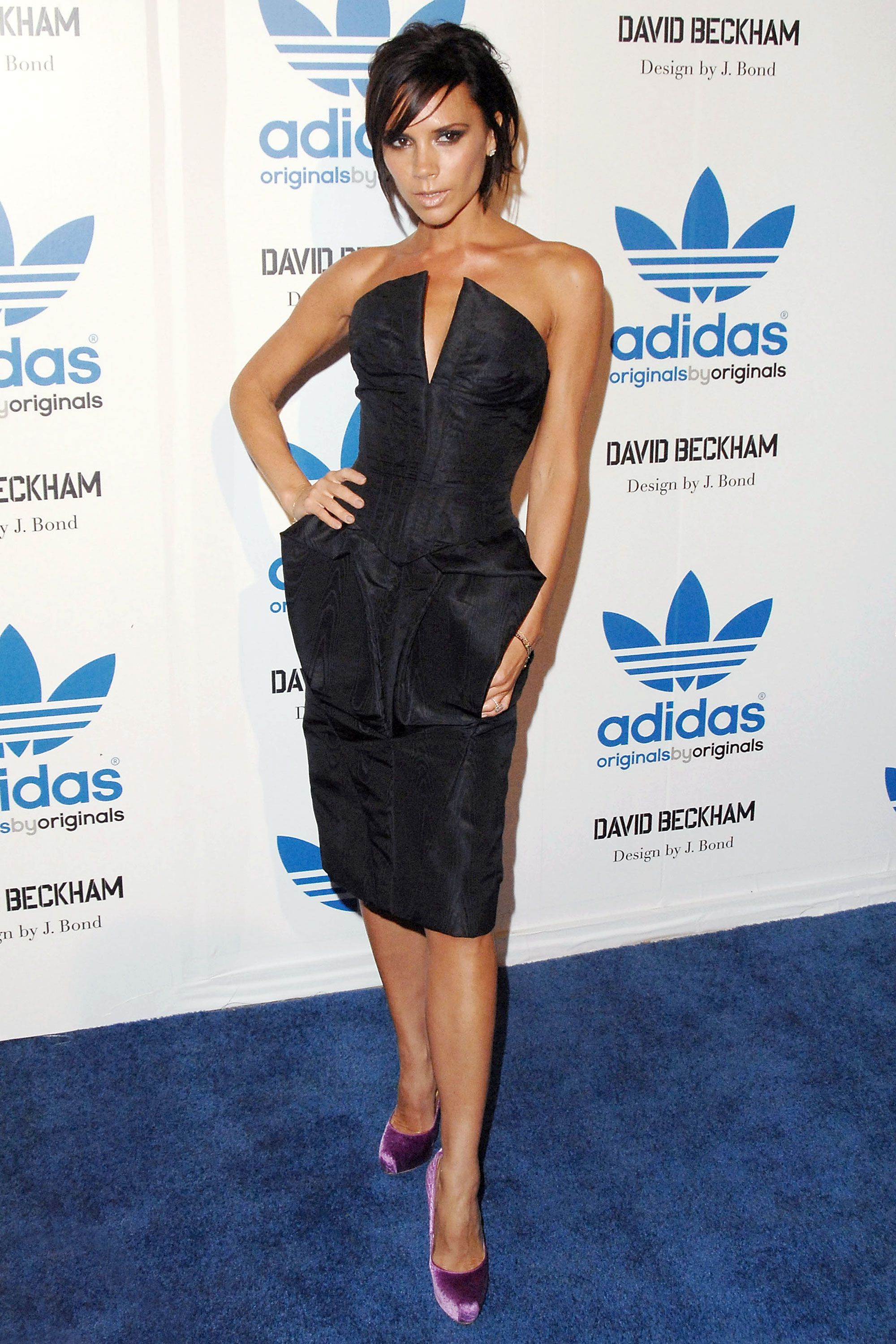 Victoria beckham blue black dress