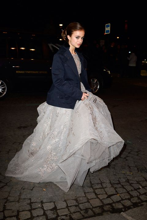 Clothing, Textile, Outerwear, Style, Formal wear, Dress, Street fashion, Fashion, Gown, Beige,