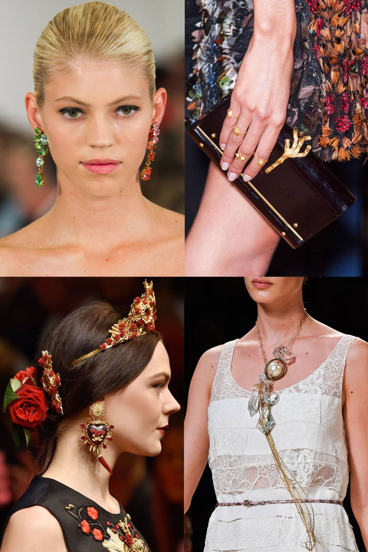 0232ffd3a20 The Best Jewelry Trends from Spring 2015 Runways - Spring 2015 ...